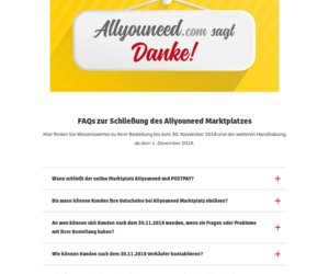 Allyouneed.com  Shopping by DHL Cashback