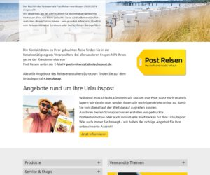 PostReisen.de Cashback