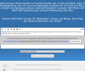 TexteKaufen.com Cashback