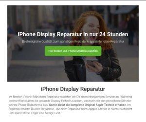 iPhoneDisplayReparatur.com Cashback