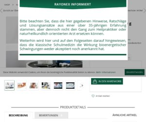 Rayonex Nährstoffkonzept Cashback