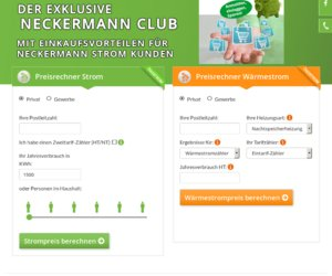 Neckermann Strom.de   Cashback