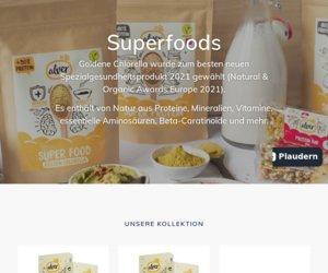 Superfoods und gesundes Essen Cashback