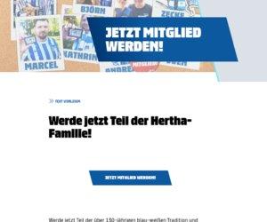 Hertha BSC Mitgliedschaft Cashback